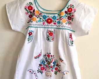 Girls Fiesta Dress Hand embroidered Summer Dress size 4-5