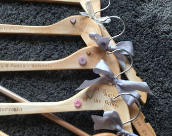 Bridal/ bridesmaid/ Mother of the bride dress hangers.