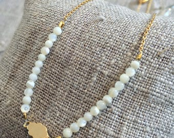 Gold plated cloud necklace