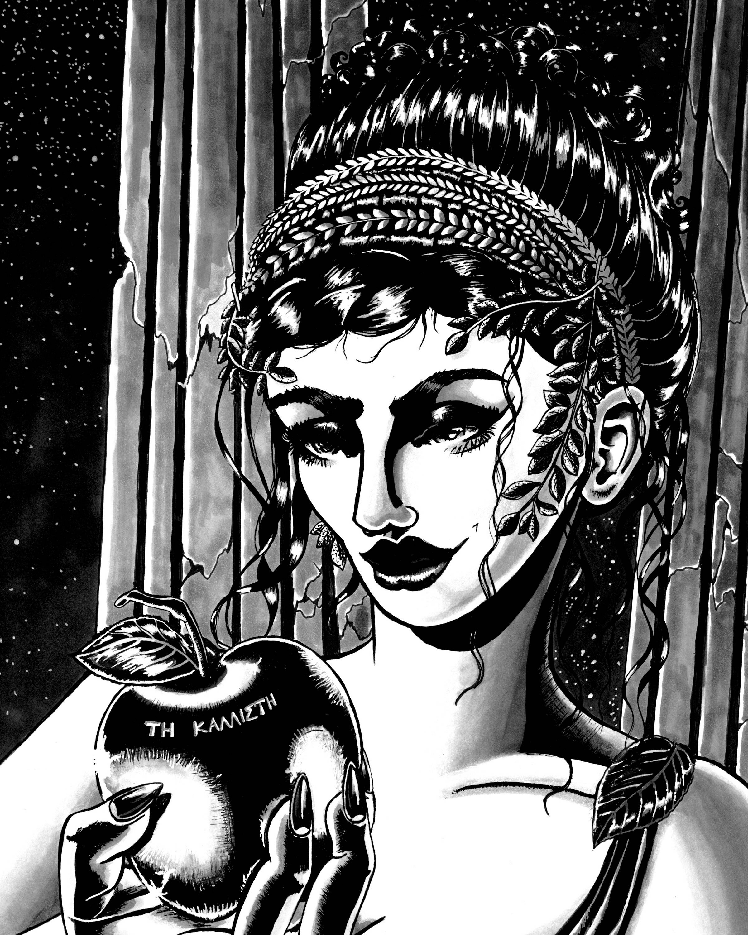 Eris goddess of chaos fine art print with archival black zoom biocorpaavc Image collections