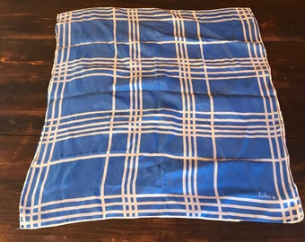 Vintage Echo Blue and White Hankerchief