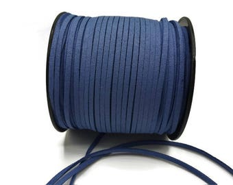 3 m - 3 mm * 1.4 mm - Royal Blue Suede A189
