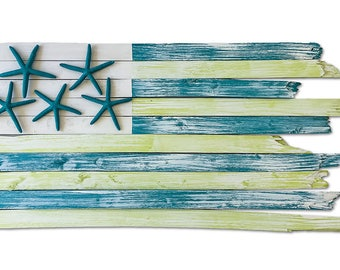 Handcrafted Coastal Flag - Appletini