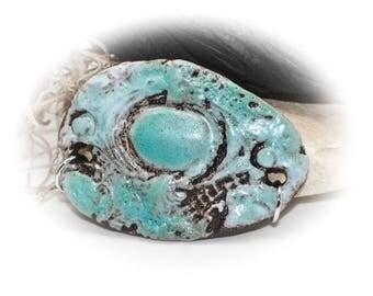 Urban Chic - Handmade Stoneware Pendant #500