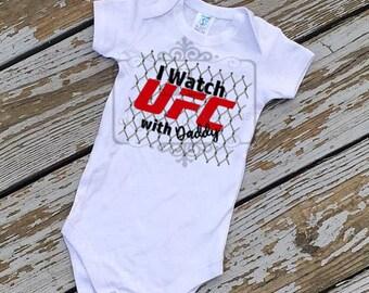 UFC shirt, Kids UFC shirt, Fight shirt, Boys shirt, Boys shirt, I watch UFC with Daddy, mma shirt, fathers day gift, gifts for daddy