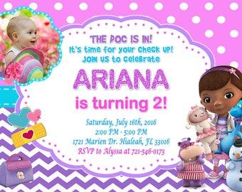 Doc McStuffins Invitation Doc McStuffins Birthday Doc McStuffins Party Doc McStuffins Invite