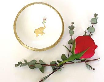 Elephant Jewelry Dish / Wisdom / Spirit Animal / Power Animal / Custom Ring Dish / Personalized / Bridesmaids Gift / Gifts for Her