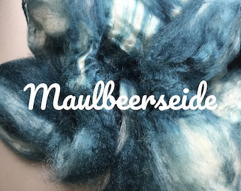 Combed Mulberry silk hand dyed No. 198