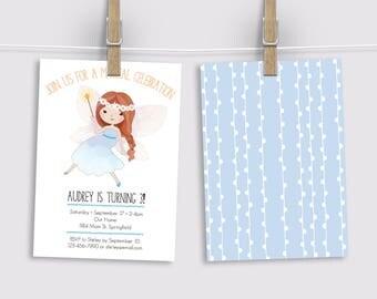 Fairy Invitation, Magical Birthday Invitation, Printed Invitation, Printable Invitation