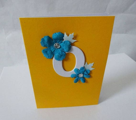 "Monogram/Initial Card - Letter ""O"""
