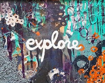 Explore On - 8 x 10 Textured Print - Artwork