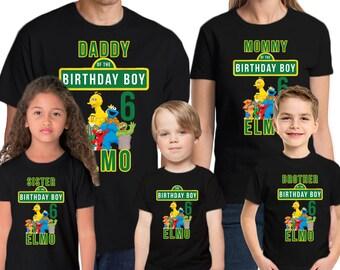Sesame Street Birthday Shirt Add Name & Age Sesame Street Custom Birthday Party T-Shirt