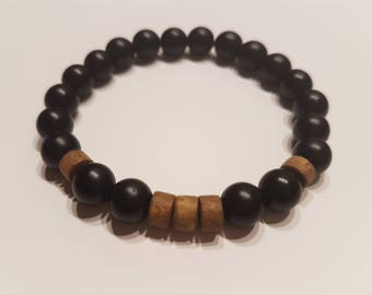 Men's Beaded Bracelet 4mm Matte Black Onyx Bracelet Stretch Bracelet