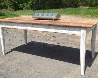 Beautiful Country Painted Farm Table