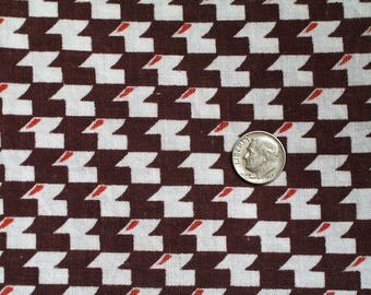"Vintage Feedsack  Geometric Motif  1930s - 40s Cotton Quilt Fabric 44-1/2"" x 37"" Flour Sack  Material"