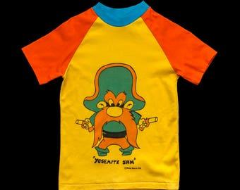 1970s Looney Tunes Yosemite Sam Tri-Color T-Shirt