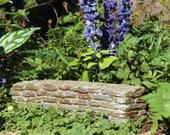 Fairy Garden Brick Wall, Miniature Stone Wall Terrarium Accessory, Faux Stone Hedging for Miniature Gardens, Mini Brick Wall Fairy Supply