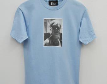 ANDY WARHOL Shirt Vintage 90's Andy Warhol Photo Print Tee T Shirt Size Youth L (14-16)