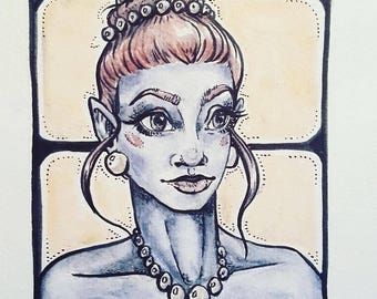 Mini Alien Princess Drawing