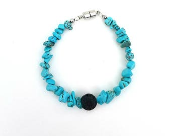 Turquoise Colored Aroma Bracelet with Magnetic Clasp