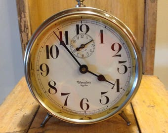 Vintage Westclox Big Ben alarm clock / 3 function alarm clock/ made in USA/ wind up clock