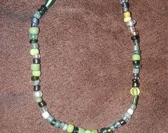Greenish beads