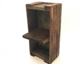 Unique Vintage Wooden Crate, Handmade