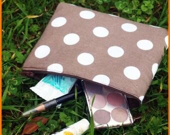 "Makeup Kit ""pea"" cotton"