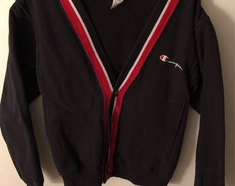 Vintage Champion Cardigan spellout