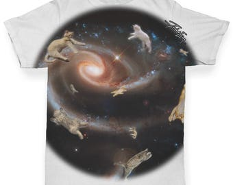 Cat Galaxy Baby Toddler ALL-OVER PRINT Baby T-shirt