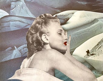 Collage Art Print * Sleep Through This * by Okay For Now