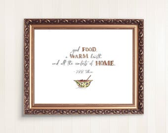 The Hobbit Quote   J.R.R. Tolkien Quote   Watercolor Quote   5x7 Wall Decor