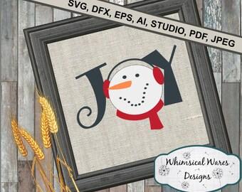 Christmas svg, Joy svg, snowman svg, christmas song svg, christmas digital download .studio3 file svg eps ai pdf files all included
