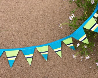 Bright canvas reversible bunting!