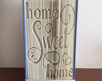 Handmade Folded Book Art, Home Sweet Home (Made To Order)