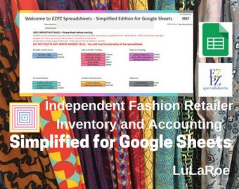 Simplified Version for Google Sheets 2017 - Accounting for LuLaRoe Fashion Retailers