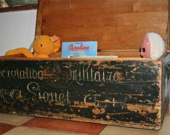 Vintage toy trunk chest