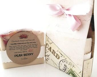 PEARBERRY Handmade Goat Milk Soap / Scented Soap / Body Soap / Bath Soap / Gift Soap / Handmade Gift / Bar Soap / Luxury Soap / Milk Soap