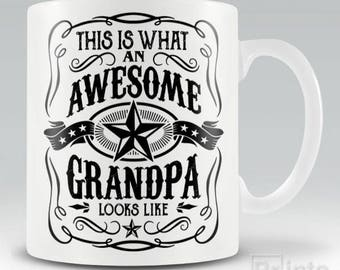 Funny novelty coffee mug - This Is What An Awesome Grandpa Looks Like