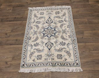 Excellent Classic Handmade Nain Kashmar Persia Area Rug Oriental Carpet 3X5