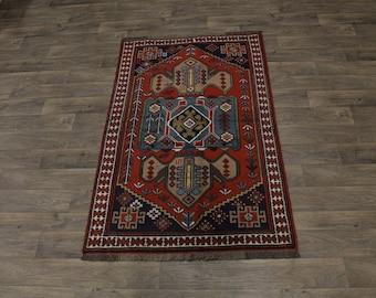 Spectacular Design Rare Tribal Ghoochan Persian Area Rug Oriental Carpet 4X6ʹ6