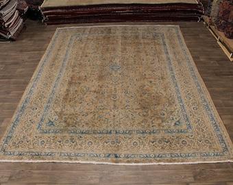 Amazing Antique Muted Handmade Mashad Persian Rug Oriental Area Carpet 10X13