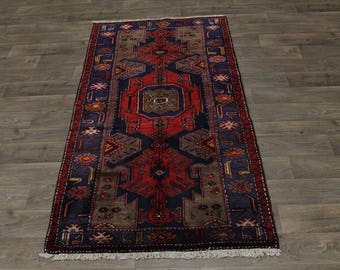 Unique Design Tribal S Antique Hamedan Persian Area Rug Oriental Carpet 4X7