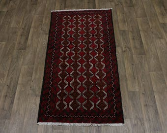 Lovely Design Foyer Size Tribal Red Balouch Persian Rug Oriental Area Carpet 3X6