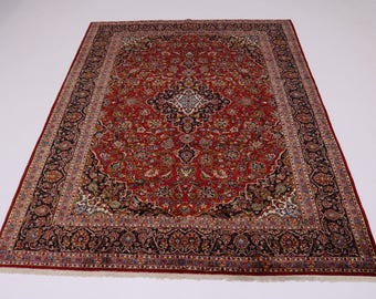 Amazing S Antique Traditional Red Kashan Persian Rug Oriental Area Carpet 10X13