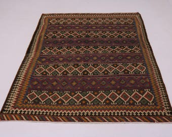 Great Shape Hand Woven Tribal Kilim Persian Wool Rug Oriental Area Carpet 7X9