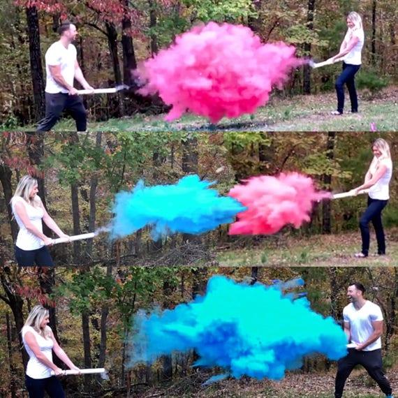 "24"" SMOKE POWDER CANNON ™ Ships Same Day! Gender Reveal Smoke Powder Cannons! New Gender Reveal Idea!"
