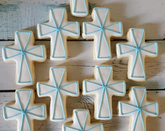 Cross/Baptism Sugar Cookies
