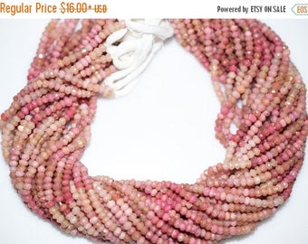 50% OFF Natural Good Quality Rhodonite Rondelle Beads 13 Inch Strand ,Rhodonite Faceted Rondelle Beads , 3.5-4 mm - MC011