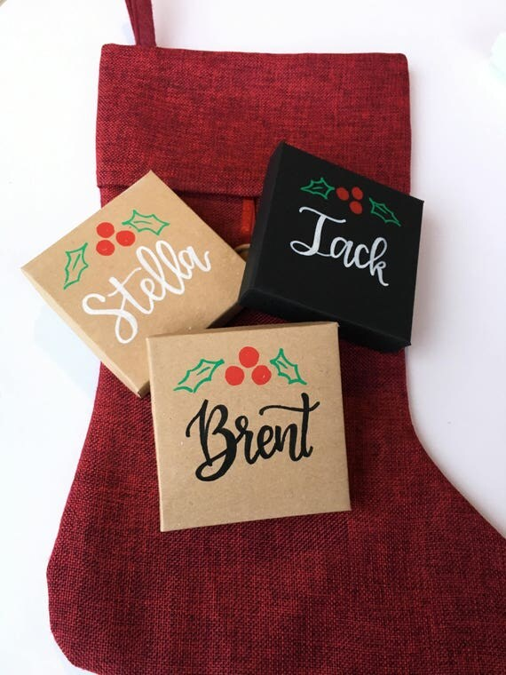 Personalized christmas gift box custom christmas gift box like this item negle Gallery